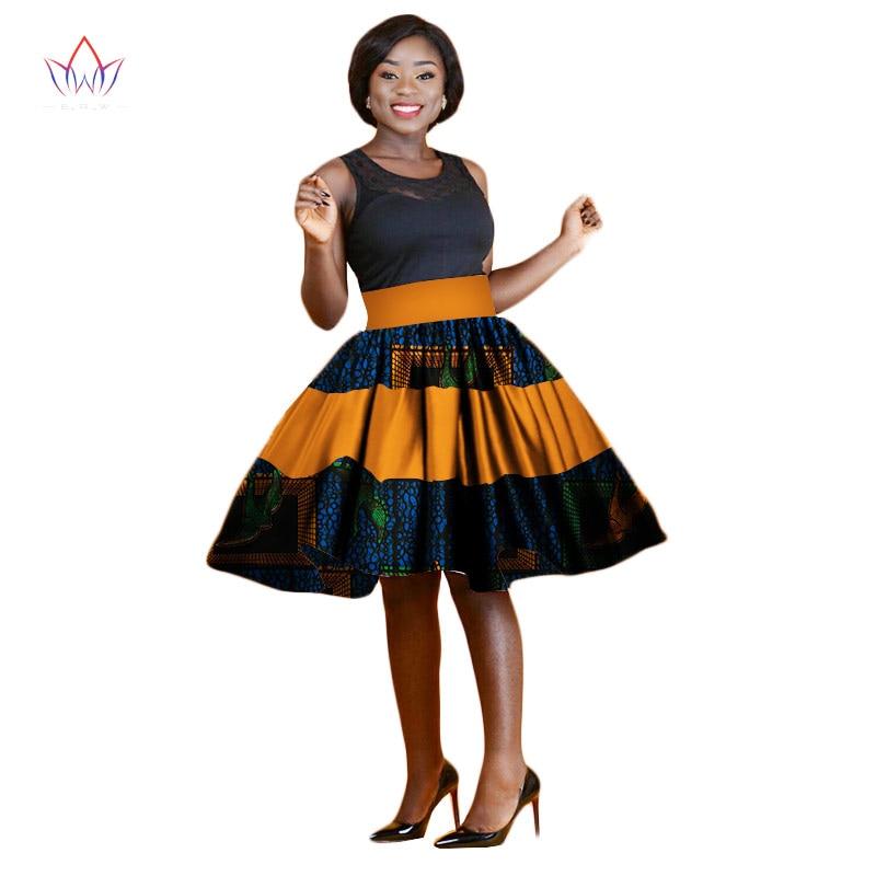 Summer Women Clothing African Print Skirts Ankara Fashions Midi Kitenge A-Line Skirts Dashiki African Print Skirts BRW WY2297