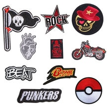Patchs de lettre Punk pour vêtements   Appliques de couture brodées en fer, vêtements brodés sur patchs et vêtements à rayures G