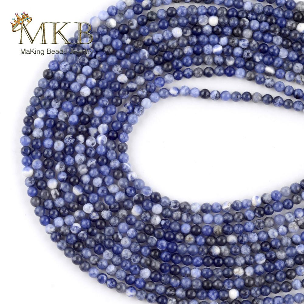 Blue Sodalite Stone Natural Stone Round Beads For Jewelry Making 3mm 120pcs Space Loose Beads Diy Br