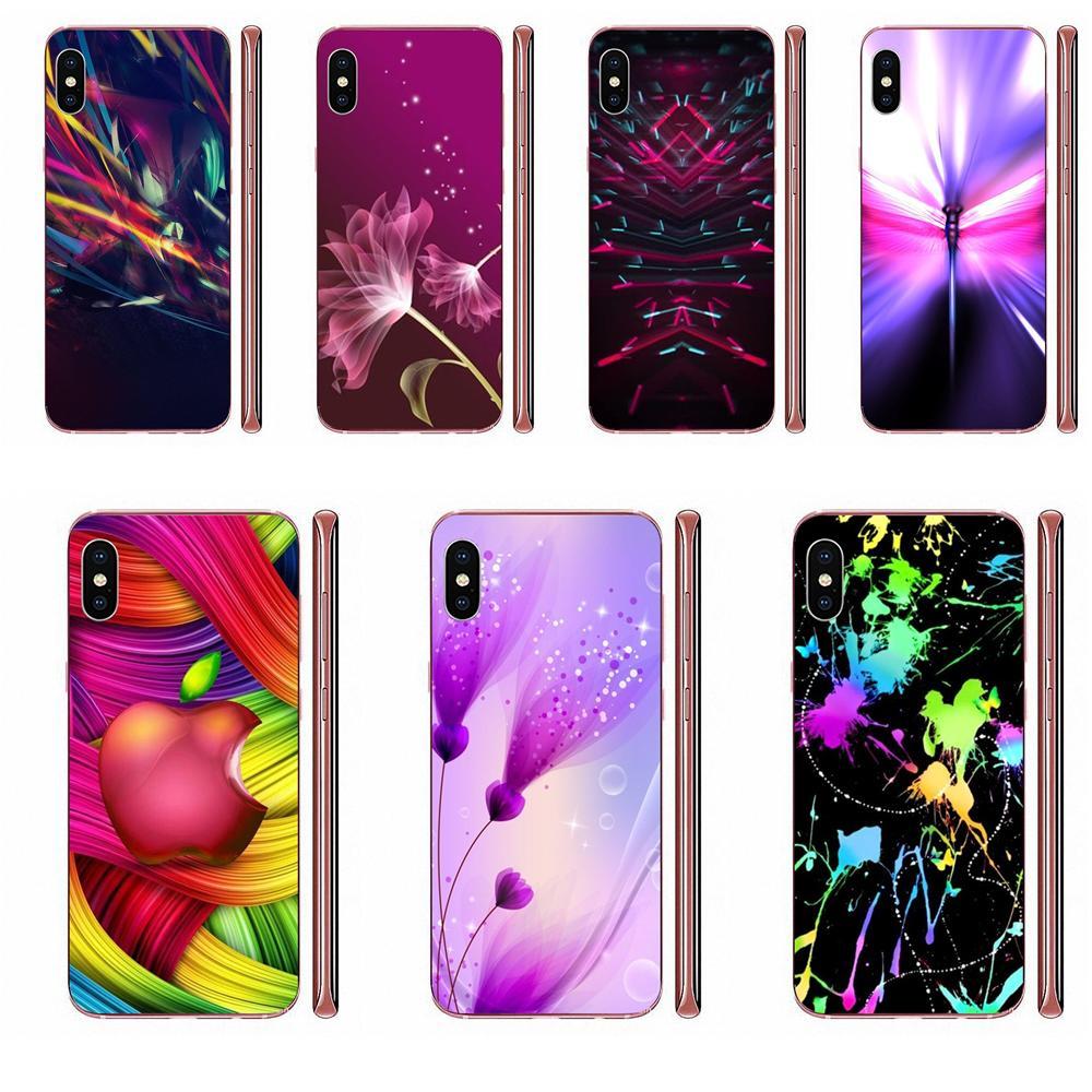 Colorido polvo en luz púrpura artístico para Huawei Mate 9 10 20 P P8 P9 P10 P20 P30 P40 Lite Pro Smart 2017 TPU teléfono