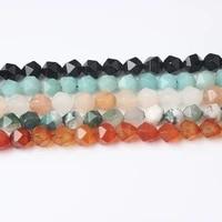 lanli fashion radiant shape black line rhodochrosite stones loose beads 6810mm diy woman bracelet necklace accessories