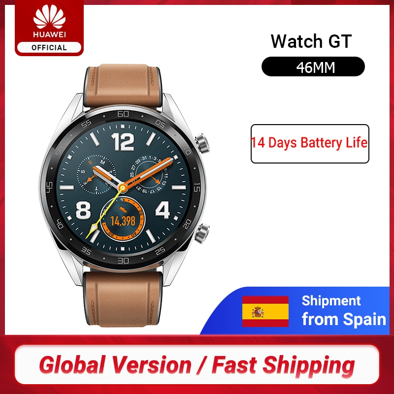 En Stock versión Global HUAWEI Watch GT Smart Watch 1,39 ''pantalla 14 días batería resistente al agua 5ATM test pulsómetro Tracker