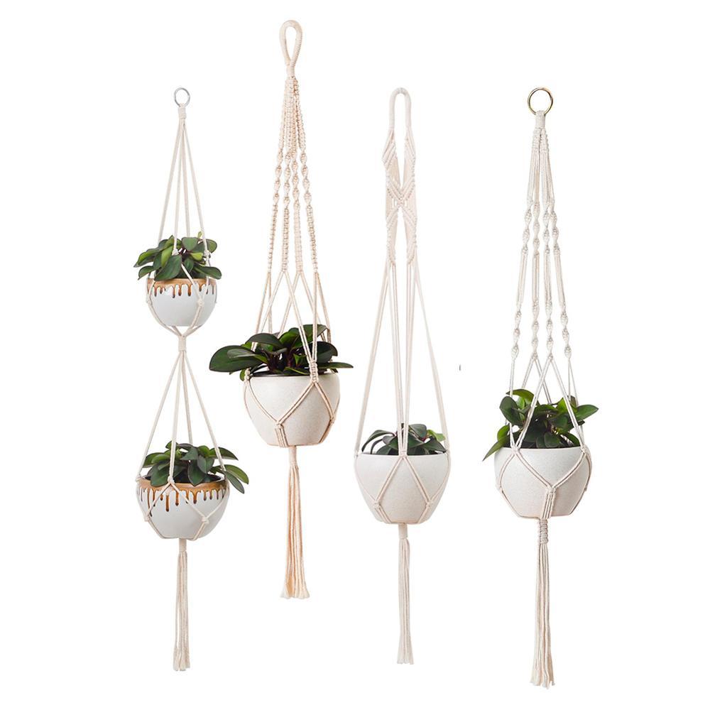 1pc velika košara za rastlinske obešalnike, ročno izdelana vrvna - Vrtne potrebščine - Fotografija 6
