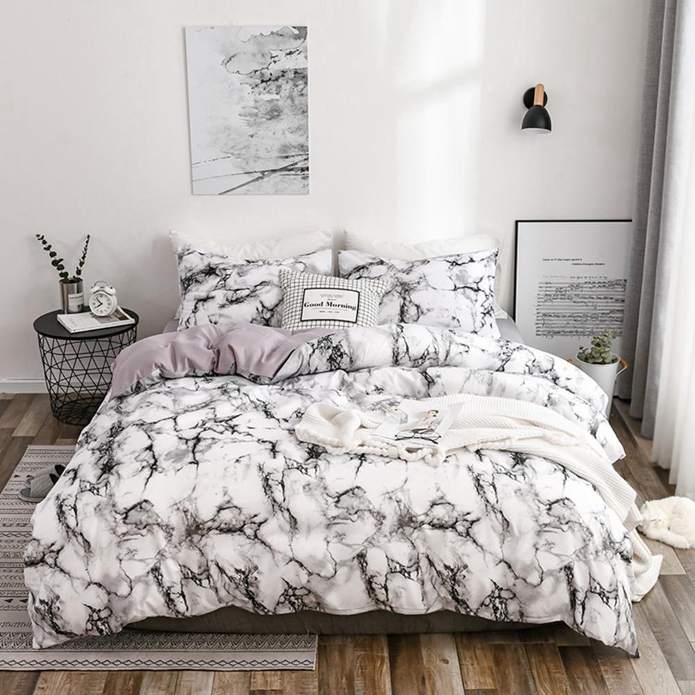 2/3 Uds rey tamaño textil hogar breve nórdicos ropa de las mujeres de los hombres ropa de cama cubierta de funda de almohada de funda nórdica con funda de almohada