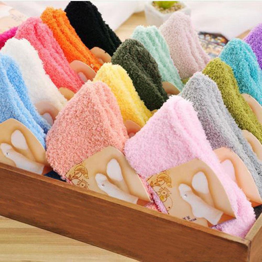 Wamer mujeres Thicken térmico lana Cachemira nieve calcetines sin costura Terry botas piso calcetines para dormir para hombres # D
