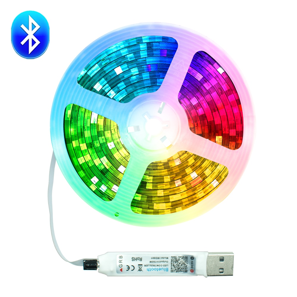 LED Strips Light USB Bluetooth 5050 SMD 0.5M 1M 2M 3M 4M 5M DC5V Waterproof Flexible Diode TV Deskto
