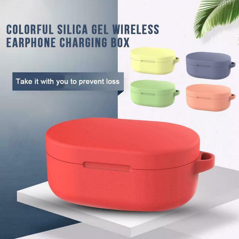 חדש סיליקון אוזניות מקרה עבור Xiaomi Redmi AirDots 2, אוזניות מגן פאוץ Shell עבור Airdots S Bluetooth-תואם אוזניות נגד