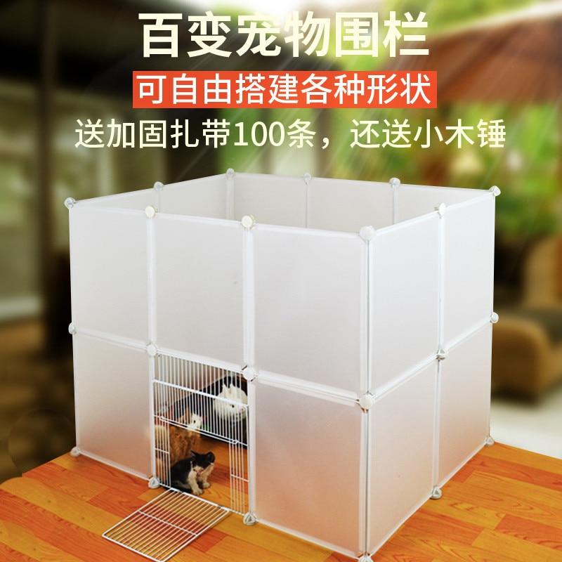 Valla para gato aviario para mascotas accesorios para puerta de perros jaula puerta barandilla conejo mascota gato bisel jaula