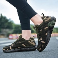 camouflage women fashion sneakers lace up flat with casual shoes plus size 35 44 sport breathable women trainers