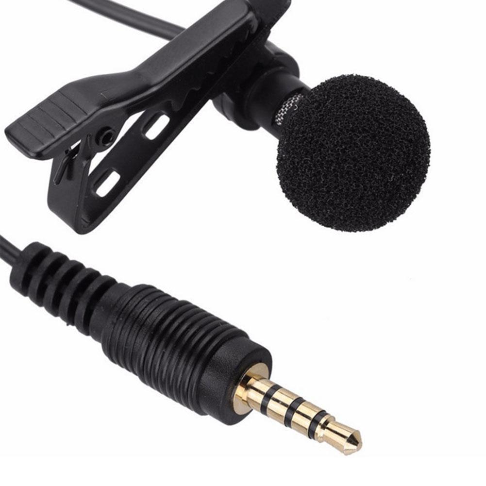 Micrófono Jack de 3,5mm, micrófono de mano con solapa y Clip para micrófono, micrófono para teléfono móvil
