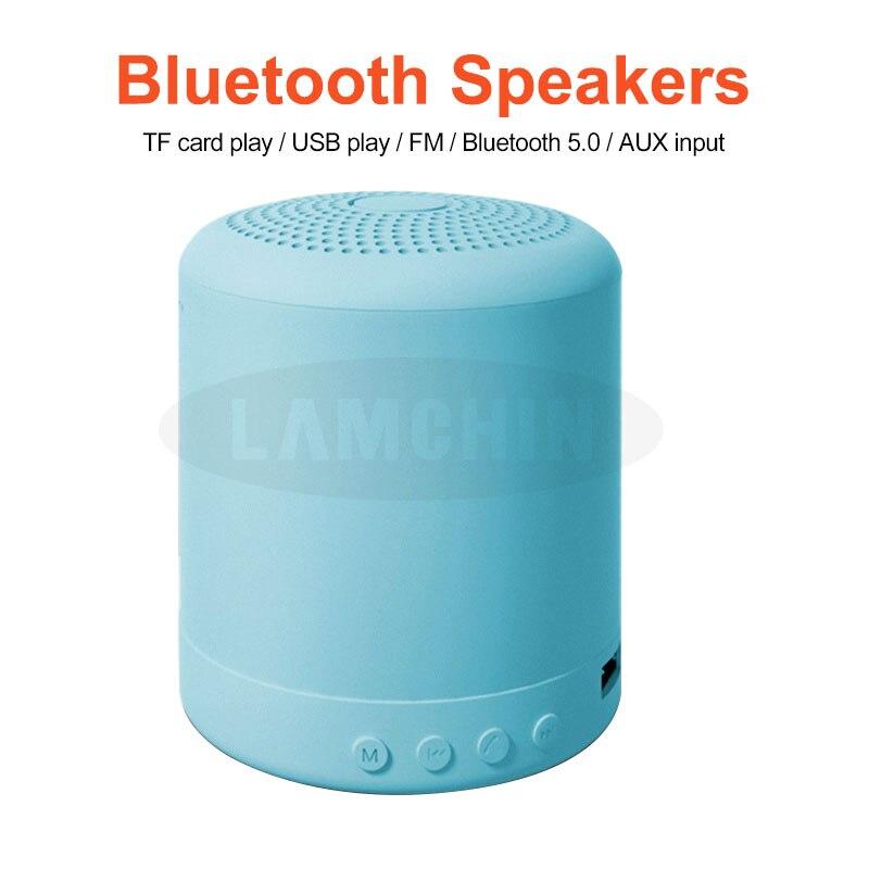 Macaron Stereo altavoz inalámbrico música impermeable altavoz al aire libre baño duchas Subwoofer minialtavoz Portátil con Bluetooth
