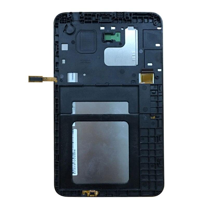 Pantalla LCD de calidad AAA para Samsung Galaxy Tab 3 Lite 7,0 T110 T111 T113 T114 T116 LCD pantalla táctil digitalizador con marco