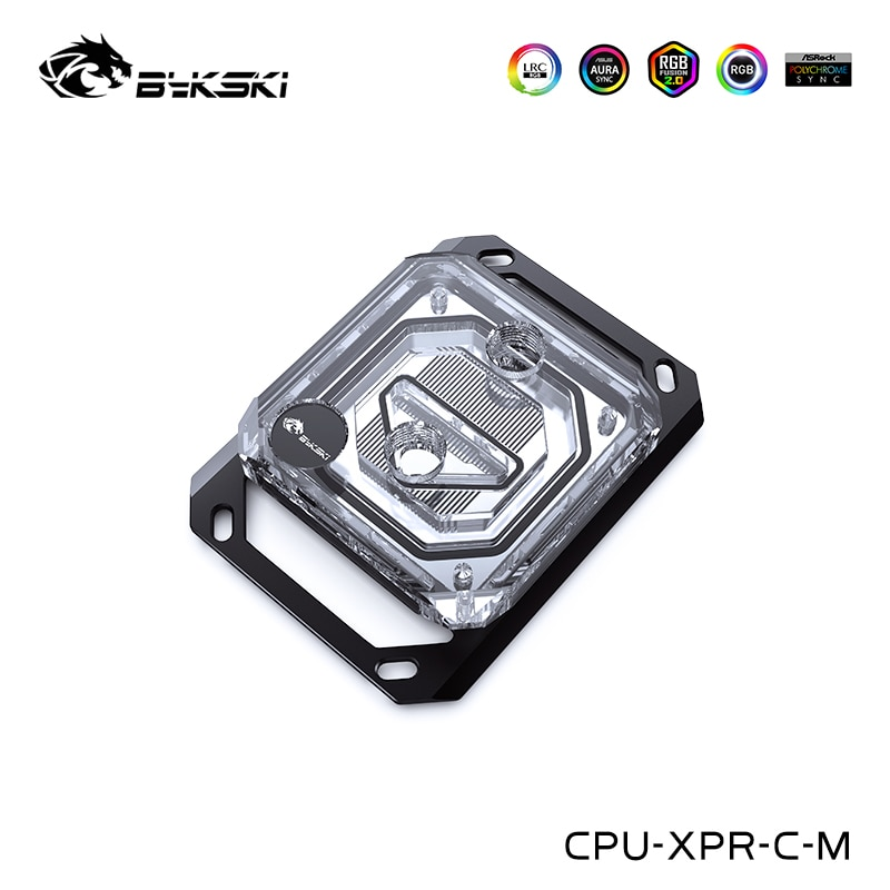 Bykski وحدة المعالجة المركزية كتلة المياه متوافقة Ryzen 7,5 ، 3 ، AM4 AM3 + ، AM3 ، AM2 + ، AM2 ، FM2 + ، FM2 ، FM1 ، مبرد المعالج ، CPU-XPR-C-M