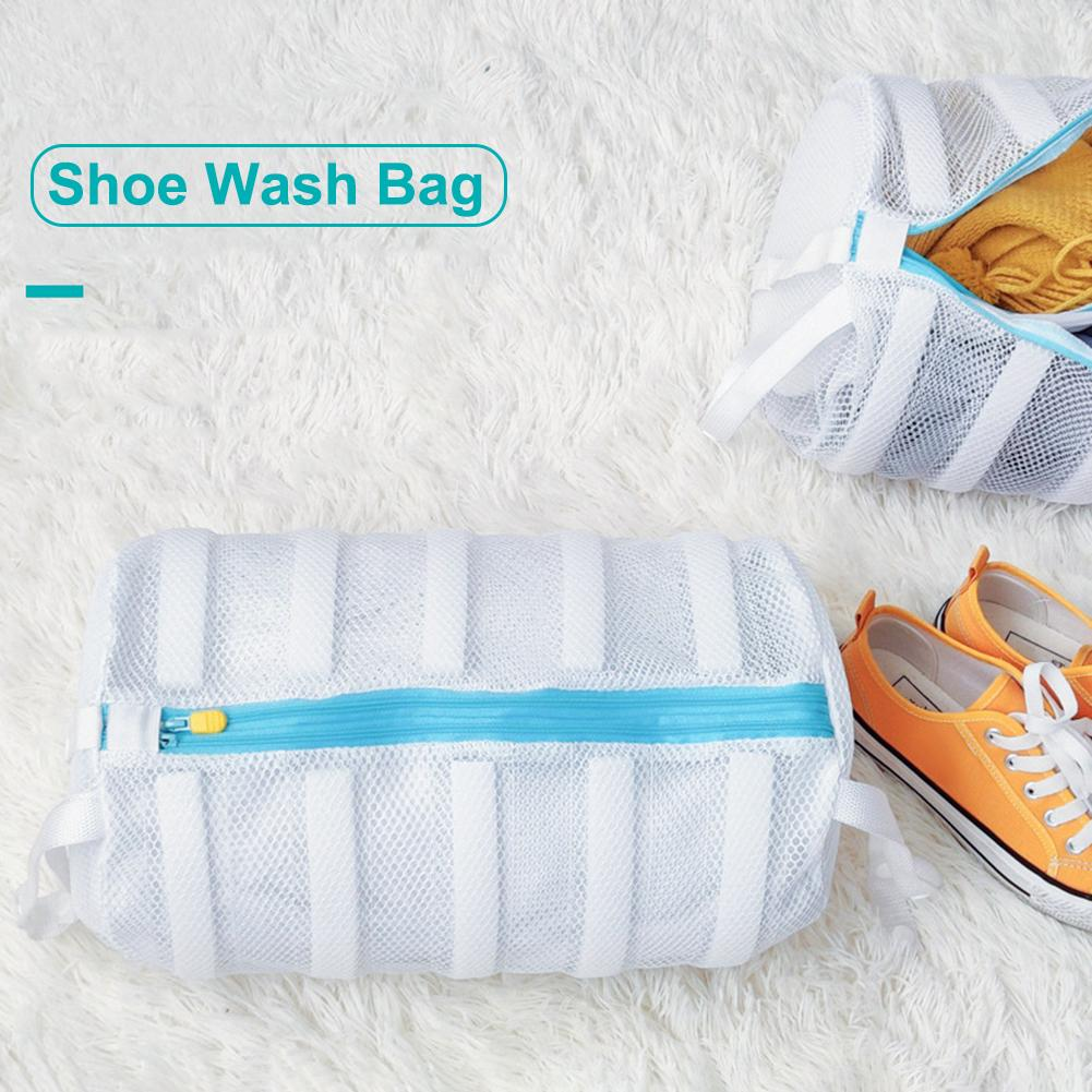 Shoe Wash Bag Mesh Laundry Bag Storage Solution Two Lazy Wash Shoes Bag One-piece Wash Drying Shoe Bag Drying For Shoes Bra