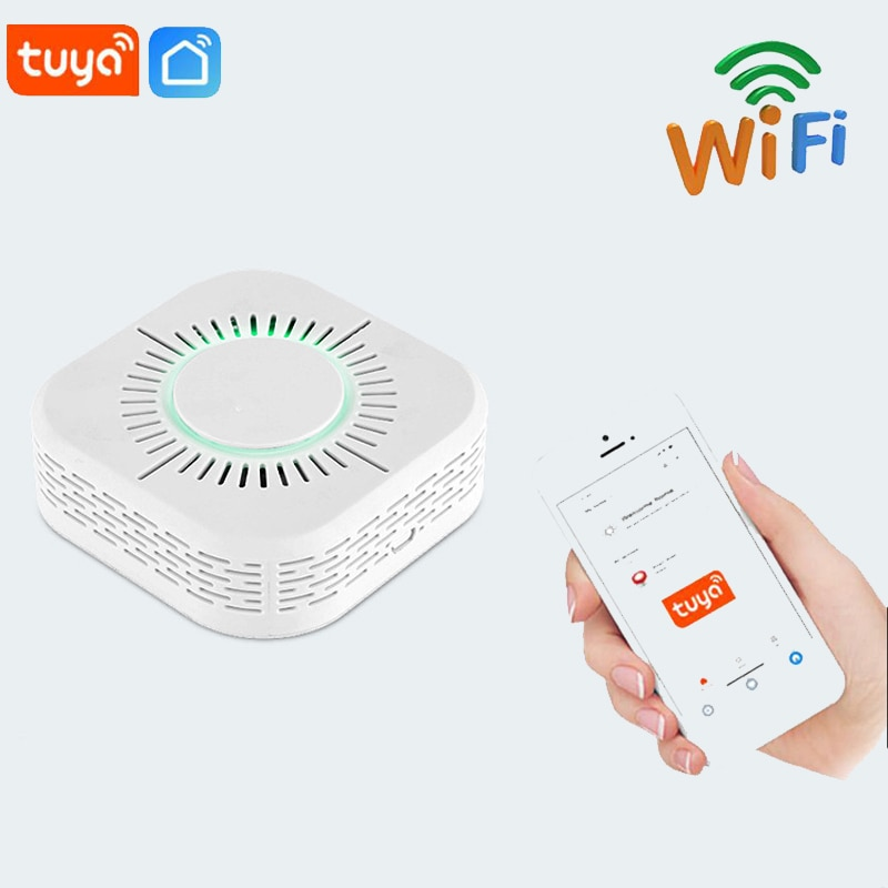 1/2/3PCS Wifi Smoke Detectors Fire Protection Portable Smoke Detector Home Safe Security Smoke Alarm Sensor TUYA APP Smart Home