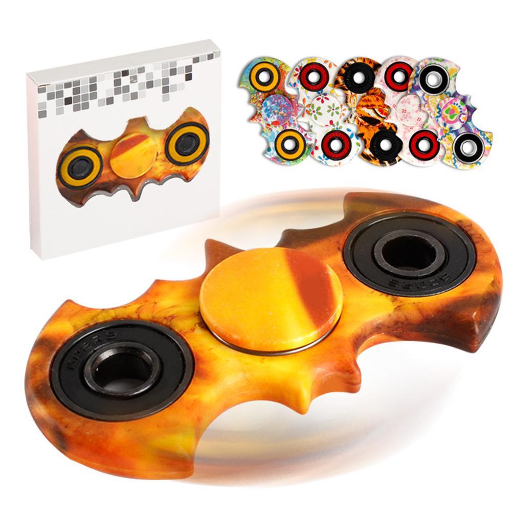 Estilo de murciélago, giroscopio para la yema del dedo, pintura al óleo de acuarela, Fidget Spinner para dedos, juguete de enfoque ADHD para niños, juguete para regalo de descompresión juvenil