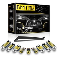 bmtxms 12pcs canbus for toyota chr c hr 2016 2020 vehicle led bulb indoor interior dome map reading trunk light car accessories