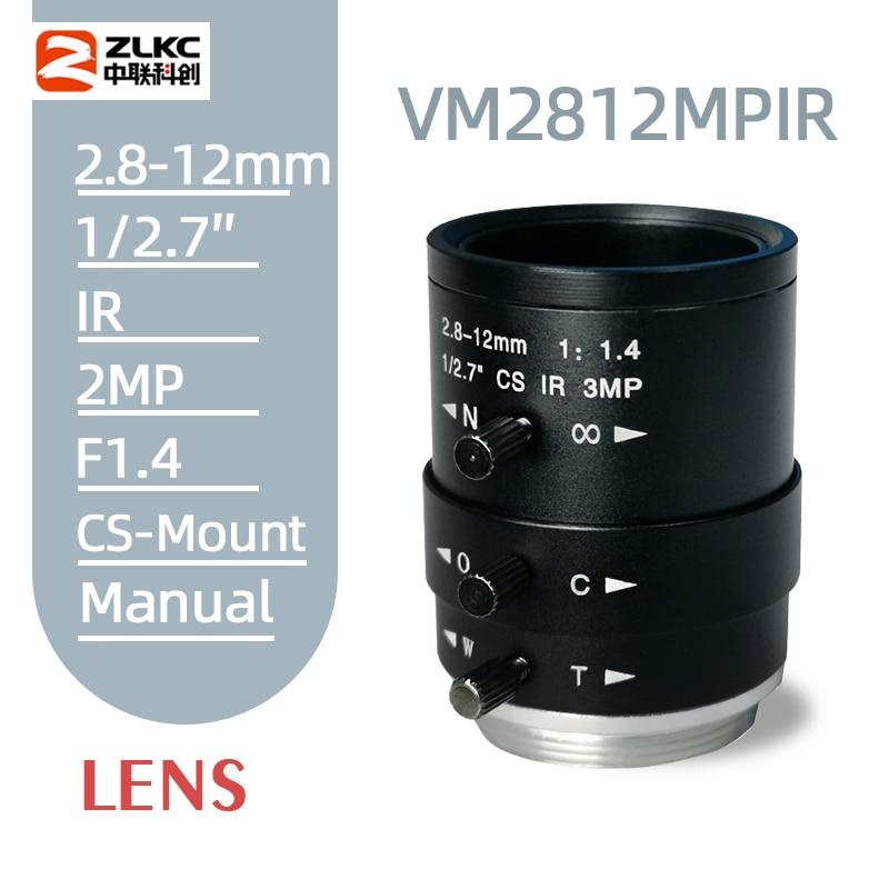 Neue CS-Mount FA Objektiv 3,0 Megapixel 2,8-12mm Vario Manuelle Iris Objektiv IR Funktion Sicherheit Kamera objektiv