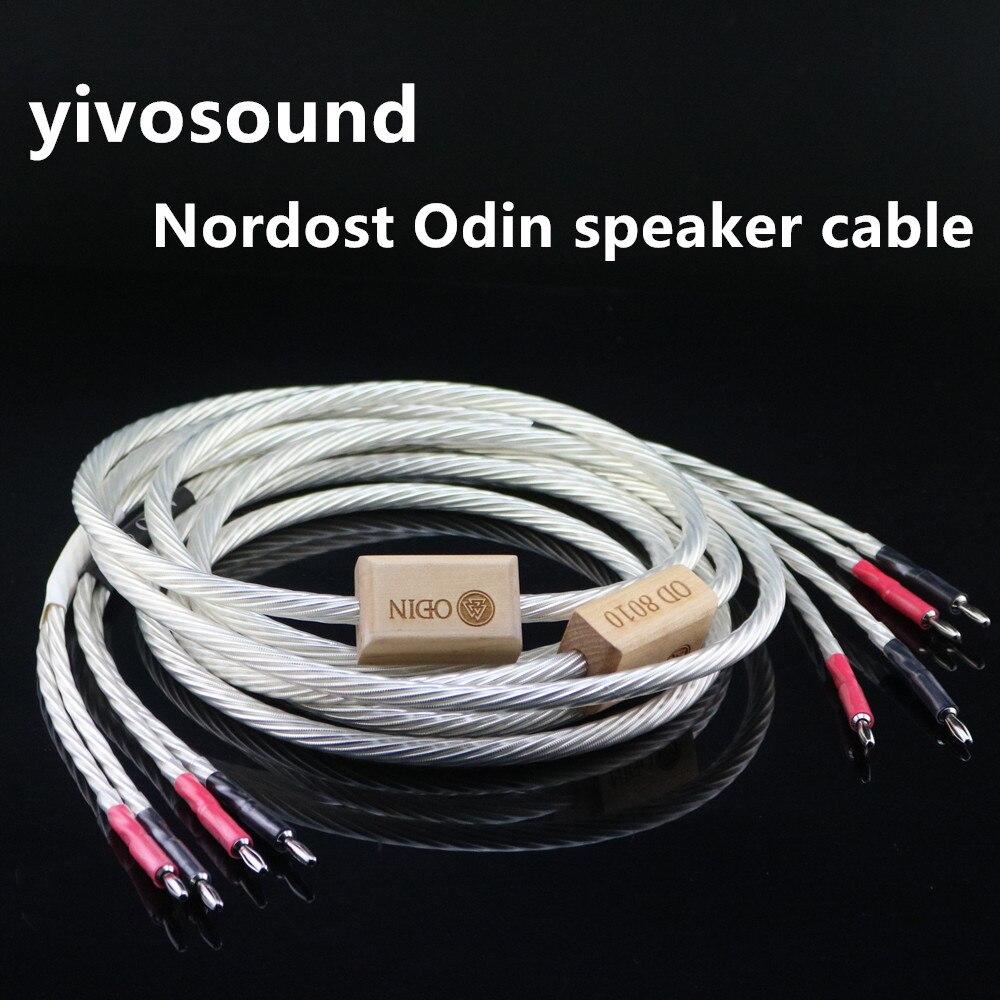 HIFI Nordost Odin السمعية الفضة سلك كابل مكبر الصوت الموز Yplug الصوت القرن اتصال