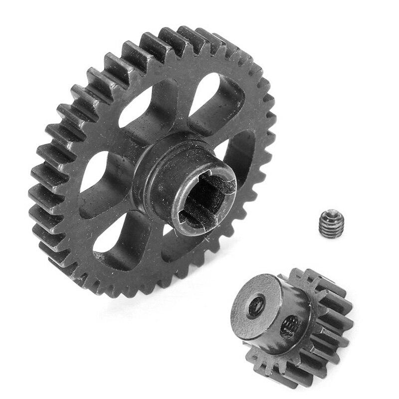 Pieza de actualización de Metal engranaje de reducción + Motor piezas de repuesto para engranaje para Wltoys A949 A959 A969 A979 K929 RC coche piezas de juguete de Control remoto