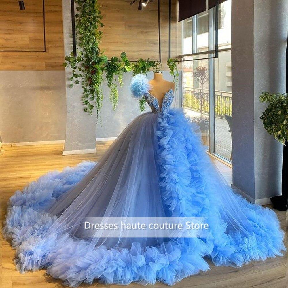 السماء الزرقاء الحلو 16 Quinceanera فساتين السباغيتي الأشرطة Ruched و الكرة ثوب الحفلة الراقصة اللباس Vestido دي 15 Anos 2021