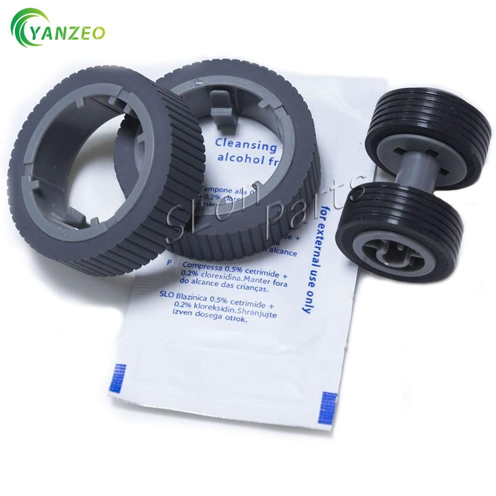 YANZEO PA03670-0001 PA03670-0002 Scanner Brake and Pick Roller Set Fi-7160 Fi-7180 Fi-7260 Fi-7280 with Clean Wipe