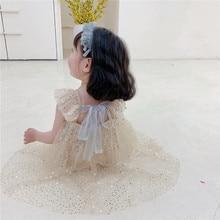 Girls Dress Sequins Princess Summer Baby Girl Dresses Lace Ruffle Infant Vestidos Backless Toddler D