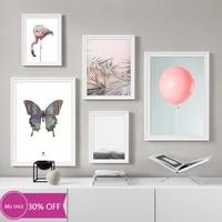 Toile de decoration de noel  affiches  ballons et papillons  tableau dart mural pour salon  decoration de maison