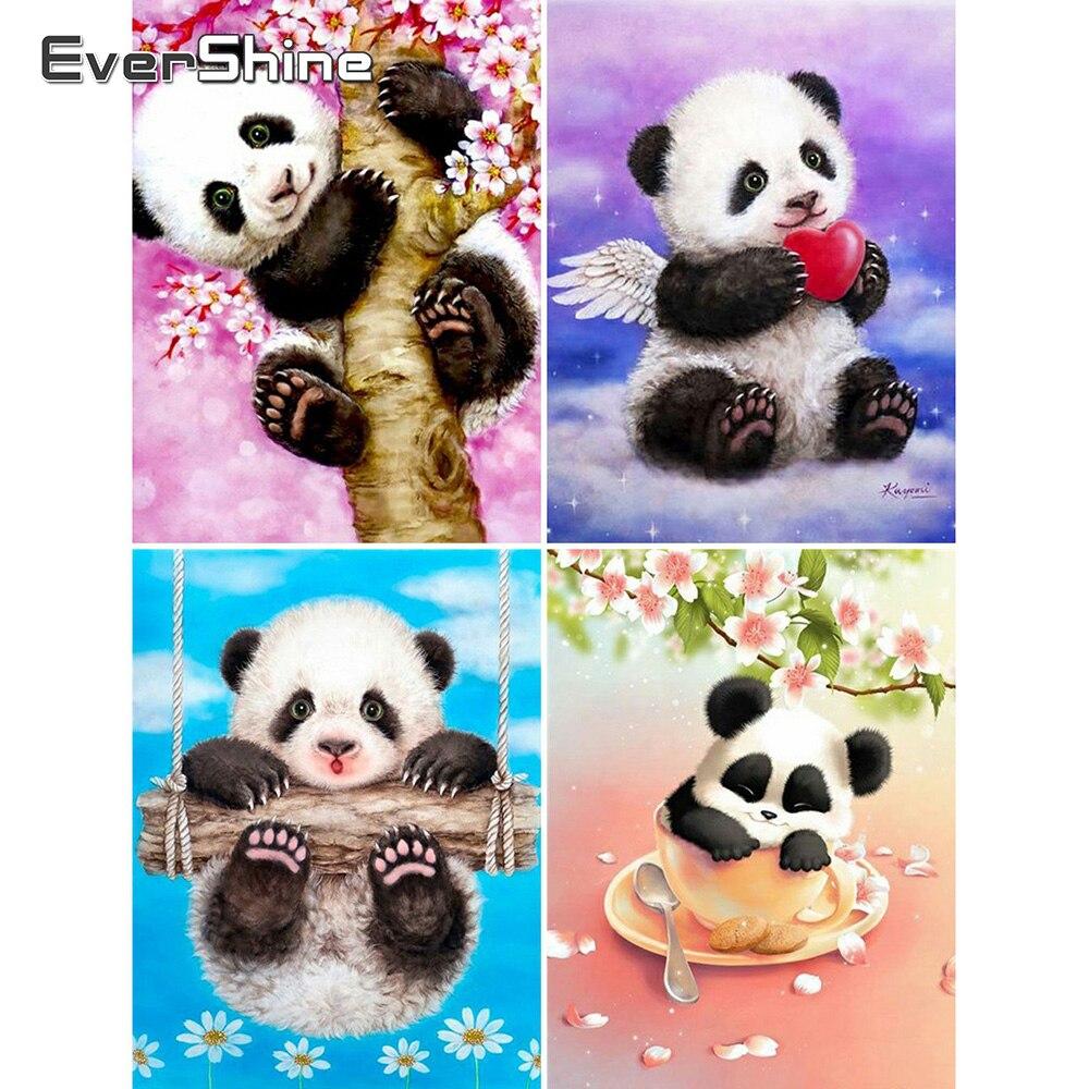 Evershine 5D Diamond Painting Animal Diamond Embroidery Panda Cross Stitch Kit Full Square Diamond Mosaic Full Set Home Art gift
