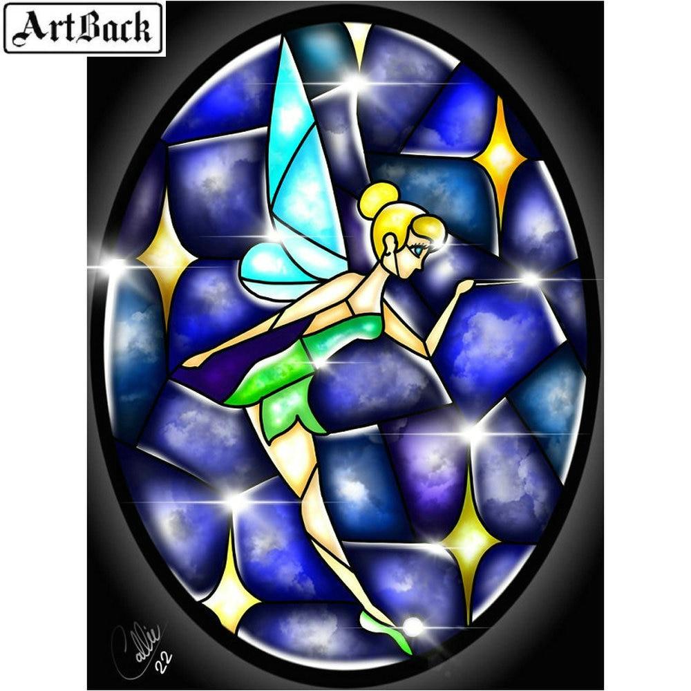 5d diamante pintura mago Hada chica pegatina cuadrado completo/taladro redondo diy 3d diamante mosaico diamante bordado paisaje