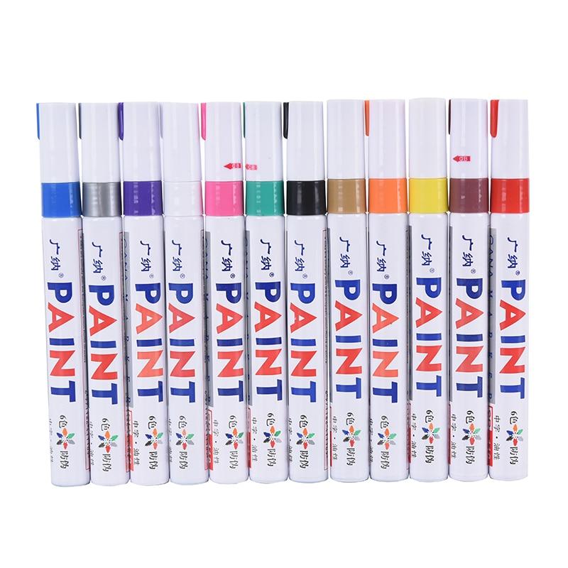 rodadora-de-neumaticos-de-coche-marcador-de-pintura-permanente-rodadura-de-metal-marcador-oleoso-papeleria-12-colores