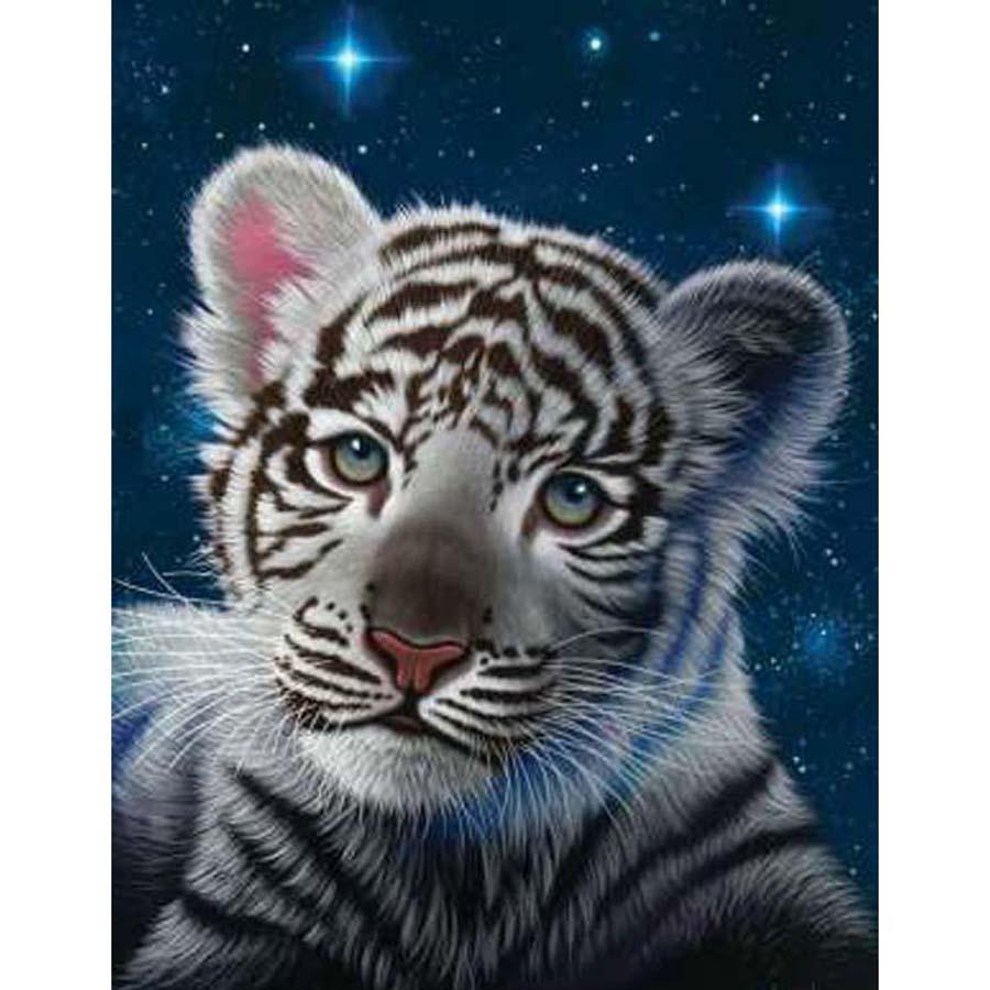 Pintura diamante Tigre punto de cruz 5D diamante bordado Animal Tigre foto Diamant pintura completo cuadrado diamantes de imitación decoración del hogar