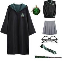 Costume dhalloween harry Potter pour enfants et adultes, vêtements de fête Granger, cape, uniforme scolaire Hermione, Costume Cosplay pour femmes et hommes