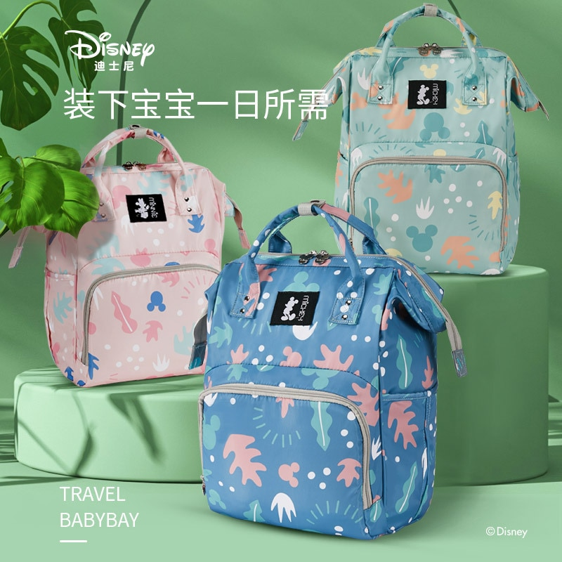 Original Disney Mummy Bag Waterproof, Multi-function, Large Capacity Backpack Baby bottle cooler bag for pregnant women