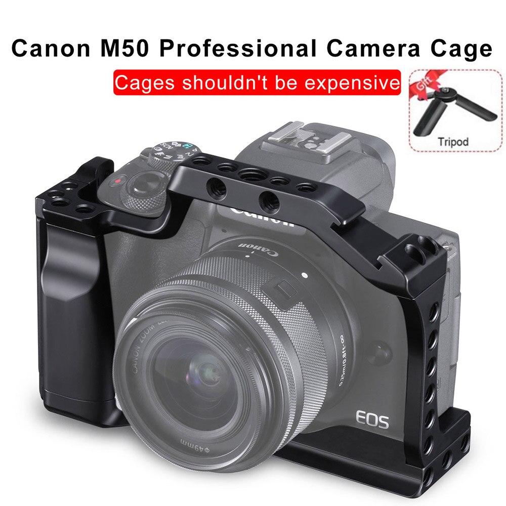 DSLR Kamera Käfig für Canon EOS M50 Käfig Mit Hot Shoe Mount Für Quick Release Befestigung für Video Vlogging VS smallRig