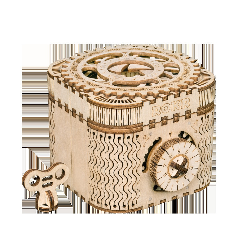 Новая деревянная 3D сборная креативная Головоломка «сделай сам» деревянная Механическая Трансмиссия антикварная коробка Модель сборная иг...