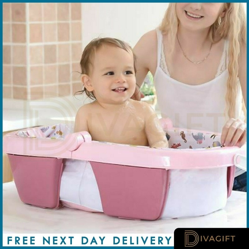 Folding Baby Bath Tub 0-36 Months Anti-Slip Stable Support Non Toxic Plastic  Portable Bath Tub Baby Bathtub Dropshipping