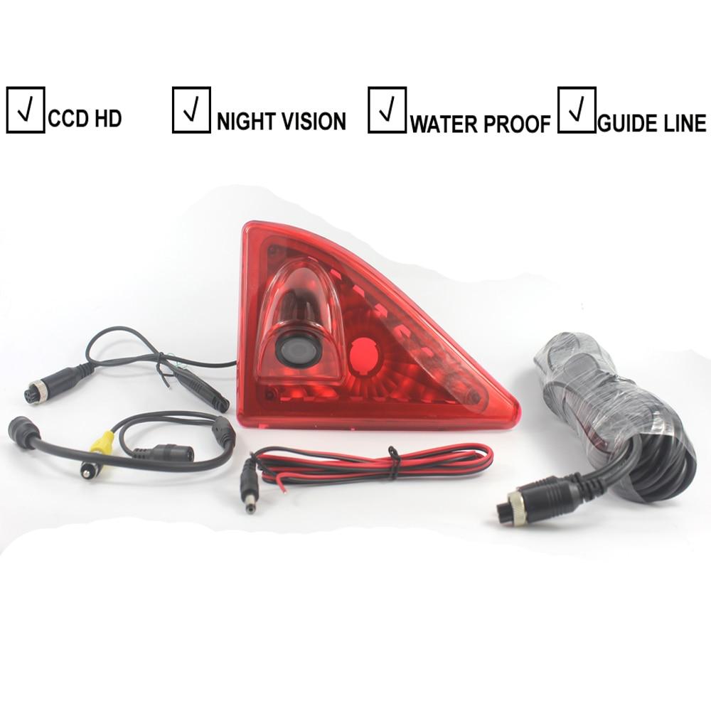 Car Brake Light Rear View Backup Reverse Camera For Nissan NV400 Renault Master Opel / Vauxhall Movano Car Light Parking Camera