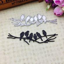 Birds on Branch Metal Cutting Dies Stencil Scrapbooking DIY Album Stamp Paper M68E