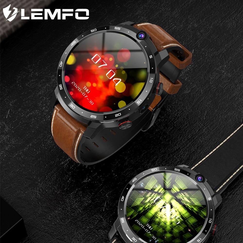Promo LEMFO Smart Watch Men LEM12pro 4+64G Android 10 400*400 1.6 inch Screen Dual Camera 4G 900 mAh Power Bank Google Play Smartwatch