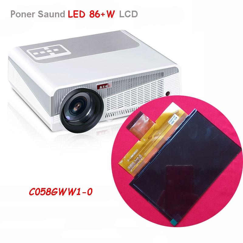 Для CL720 CL720D CL760 5,8 дюймовый проектор ЖК-экран C058GWW1-0 разрешение 1280x800 для Rigal проектор RD-806 RD-808 ремонт