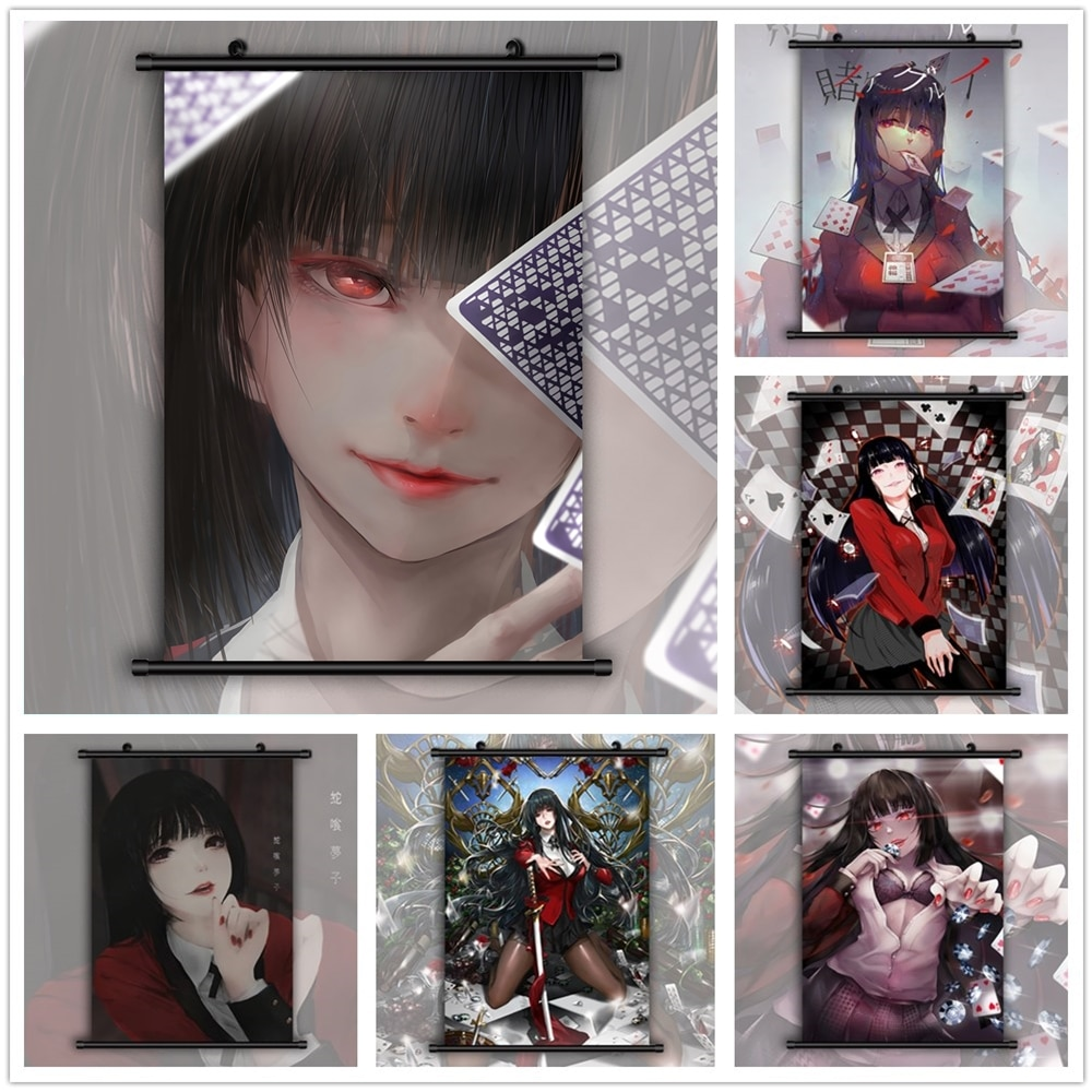 Póster de pared Kakegurui, Jabami Yumeko, Anime, Manga HD