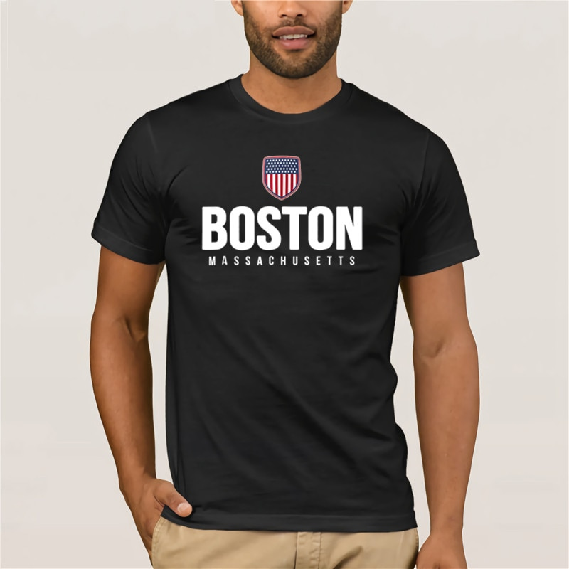 Camiseta de manga corta de Verano de 2020 para hombre de Boston
