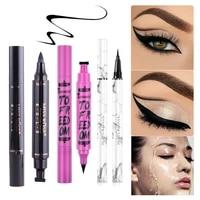 1pcs eye liner pencil waterproof natural black eyeliner stamp pen winged delicate eyes cosmetics beauty makeup tools for women
