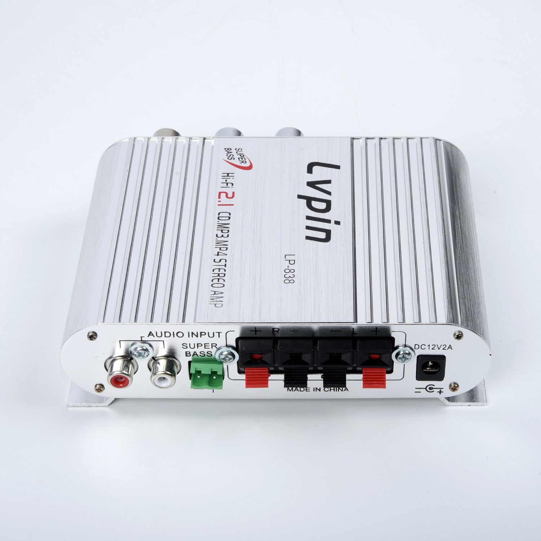 De alta fidelidad de Audio amplificador Amp Radio 12V DC/AC 47K 2,1 canal MP3 MP4 IPod reproductor de CD de coche estéreo 20Hz-20KHz W/indicador de señal