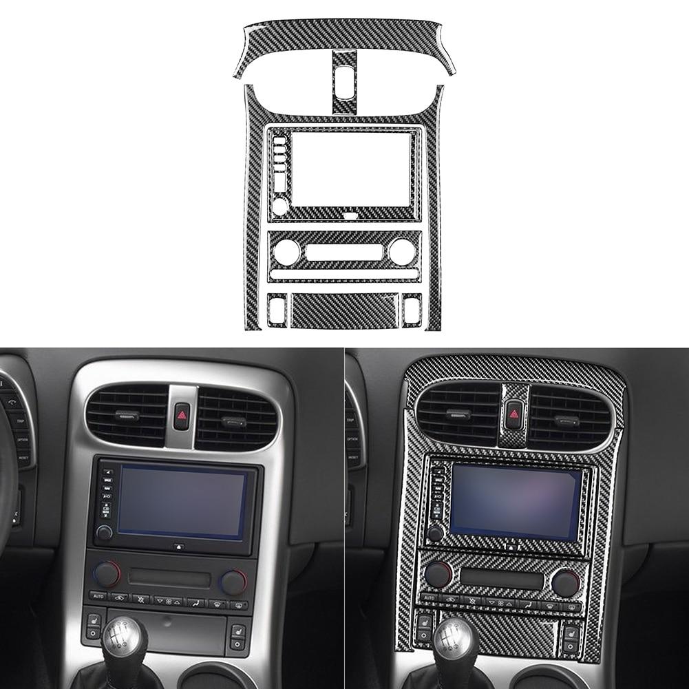 9pcs/set Console Control Panel Stickers Replacement for Corvette C6 2005-2007 Carbon Fiber Automotive Interior Stickers