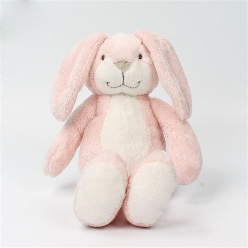 Conejo de peluche de orejas largas de color rosa de 31cm, animales de dibujos animados, muñecos blandos para dormir para niños, regalo para niñas