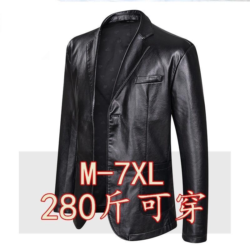 تسمين حجم كبير ملابس رياضية جلد رجالي فضفاض التلبيب معطف الرجال 7XL المألوف الدهون سترة عادية ملابس رياضية جلد رجالي 280 كجم