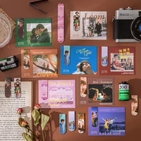 1pcs creative magnetic bookmarks movie literature art series diy decoration books mark page stationery student office supply