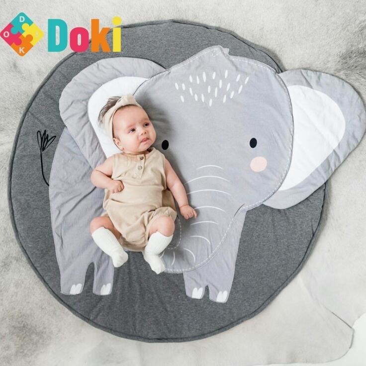 سجادة للأطفال سجادة للعب الأطفال سجادة رائعة قطنية مستديرة من القطن لحديثي الولادة بساط أرضية للأطفال